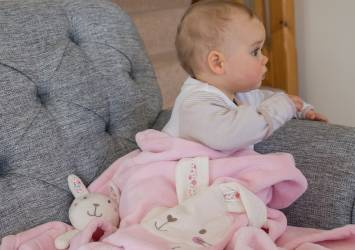 baby not asleep on sofa at bedtime